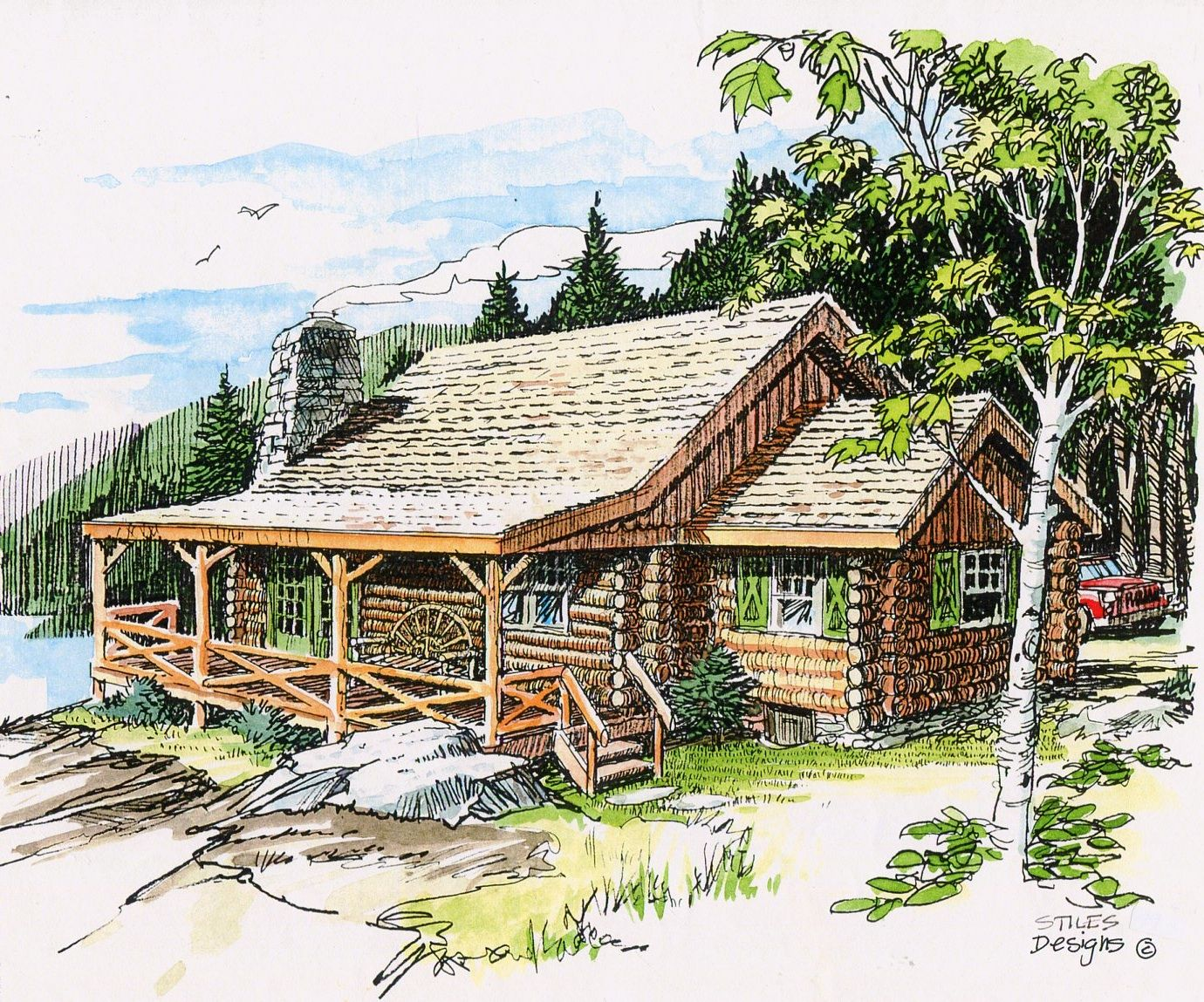 A rustic log cabin. Perfect for any kind of getaway.