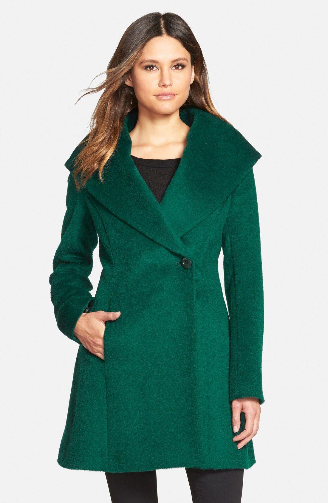 Trina Turk 'Bonnie' Shawl Collar Skirted Coat (Regular