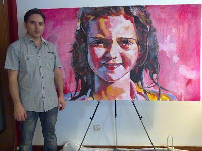Retrato, Acrílico sobre tela. 172 x 100 cm