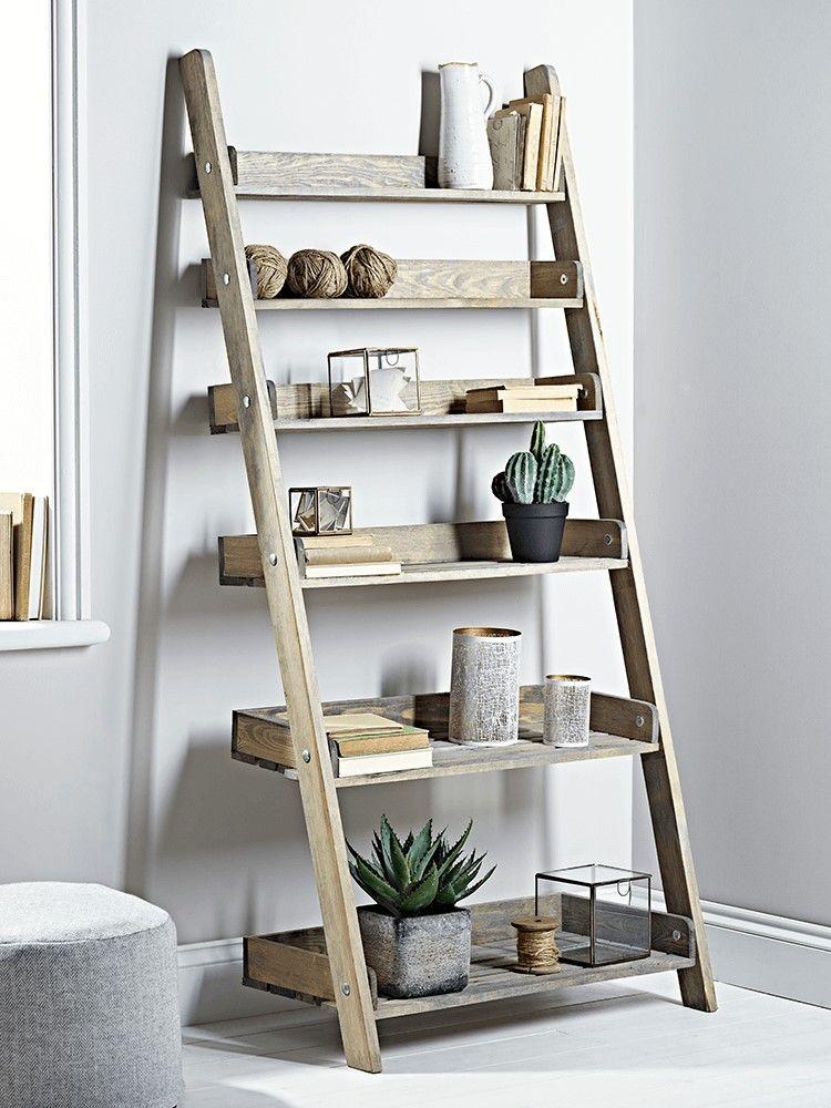 Unique Pottery For Home Interior Ideas Wooden Ladder Shelf Ladder Shelf Decor Interior