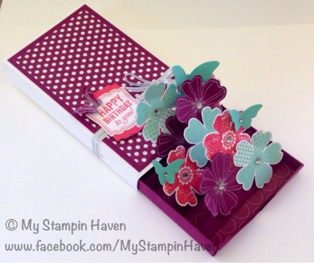 3D Matchbox Pop-up Card using Stampin' Up! products