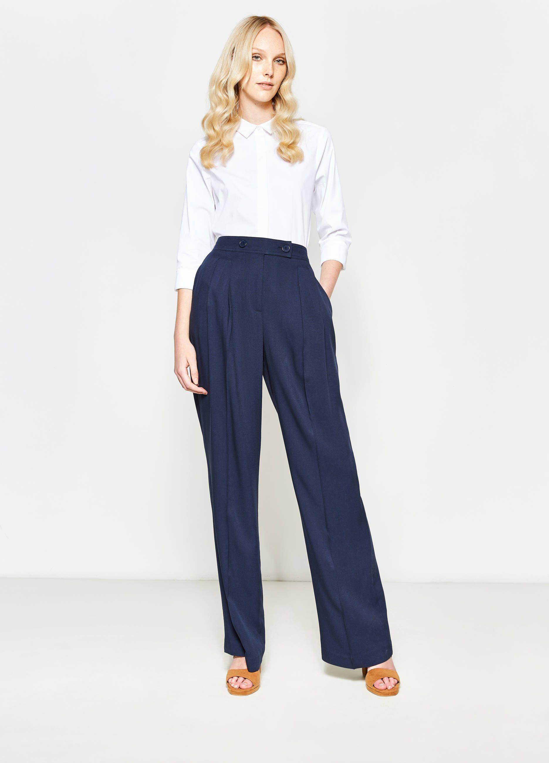 più foto 9ae63 e54f3 OVS Pantaloni palazzo con piega €29,99 | Fashion | Pantaloni ...