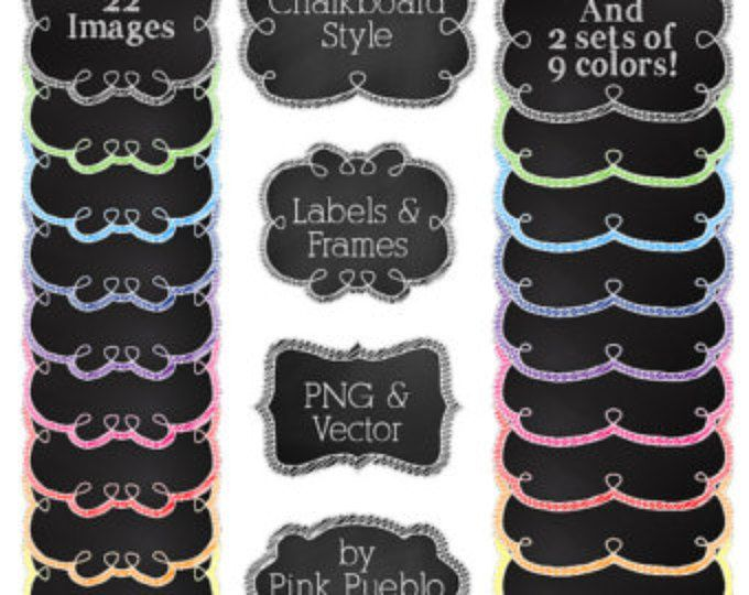 Chalkboard Frames and Banners Clipart Clip Art, Chalkboard Clipart Clip Art Vectors - Commercial and #clipartfreebies