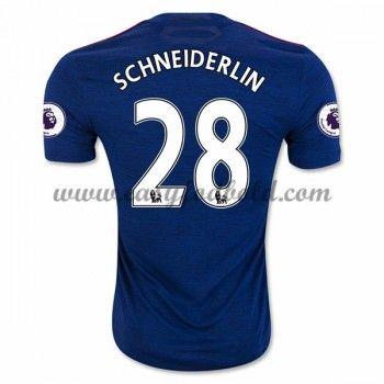 Fodboldtrøjer Premier League Manchester United 2016-17 Schneiderlin 28 Udebanetrøje