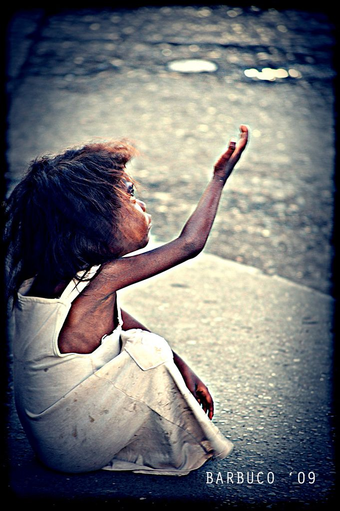 Alms And A Heart Of Gold A Poem Poor Children Helping