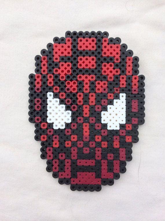Spiderman Hama Beads By Gittesg Hama Bugelperlen Bugelperlen