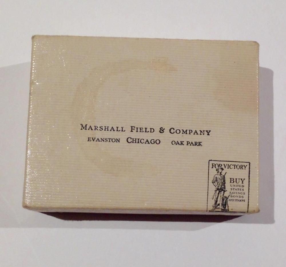 Details About Vintage Marshall Field S Chicago Green White Lettering