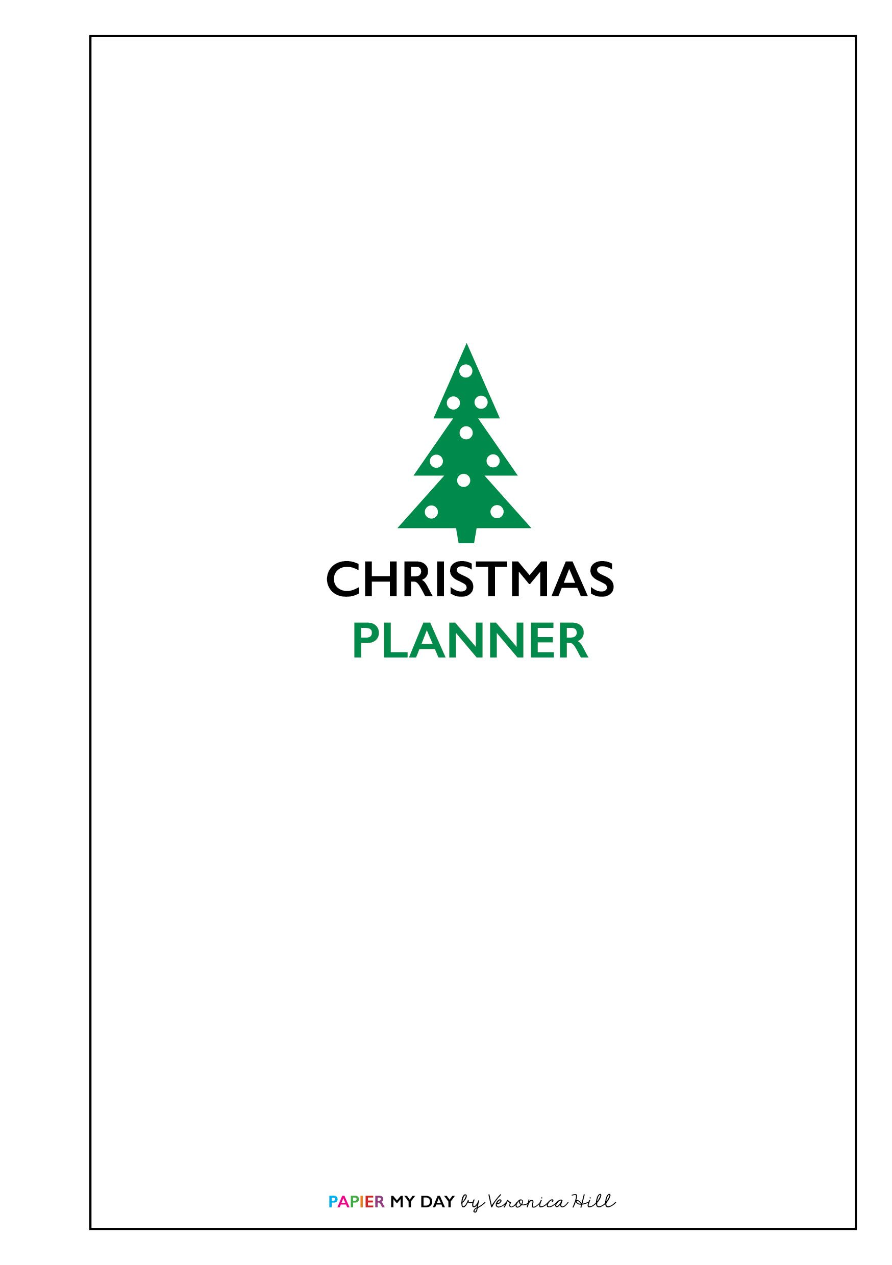 This free A5 Filofax Christmas planner printable from