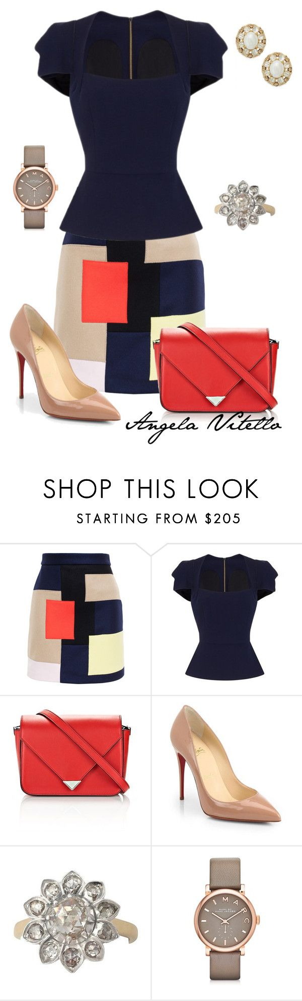 """""""Untitled #613"""" by angela-vitello on Polyvore featuring MSGM, Roland Mouret, Alexander Wang, Christian Louboutin, Marc by Marc Jacobs and Kate Spade"""