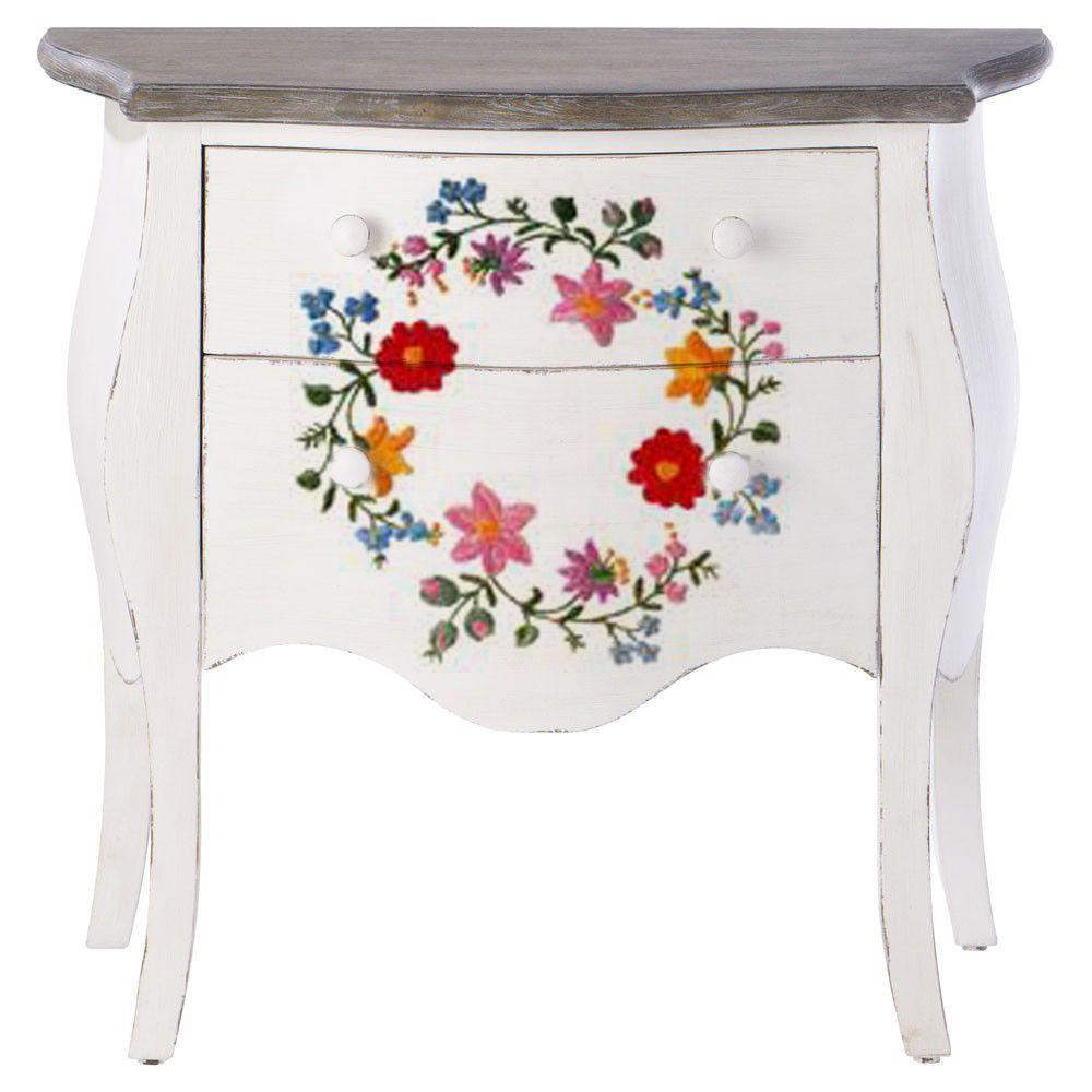 This Is A Hungarian Folk Art Style Known As Kalocsa Art Furniture Painted Furniture Scandinavian Folk Art