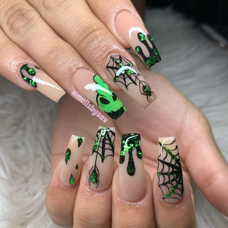 50 Trendy Spider Web Nail Art Designs for Halloween (With ...