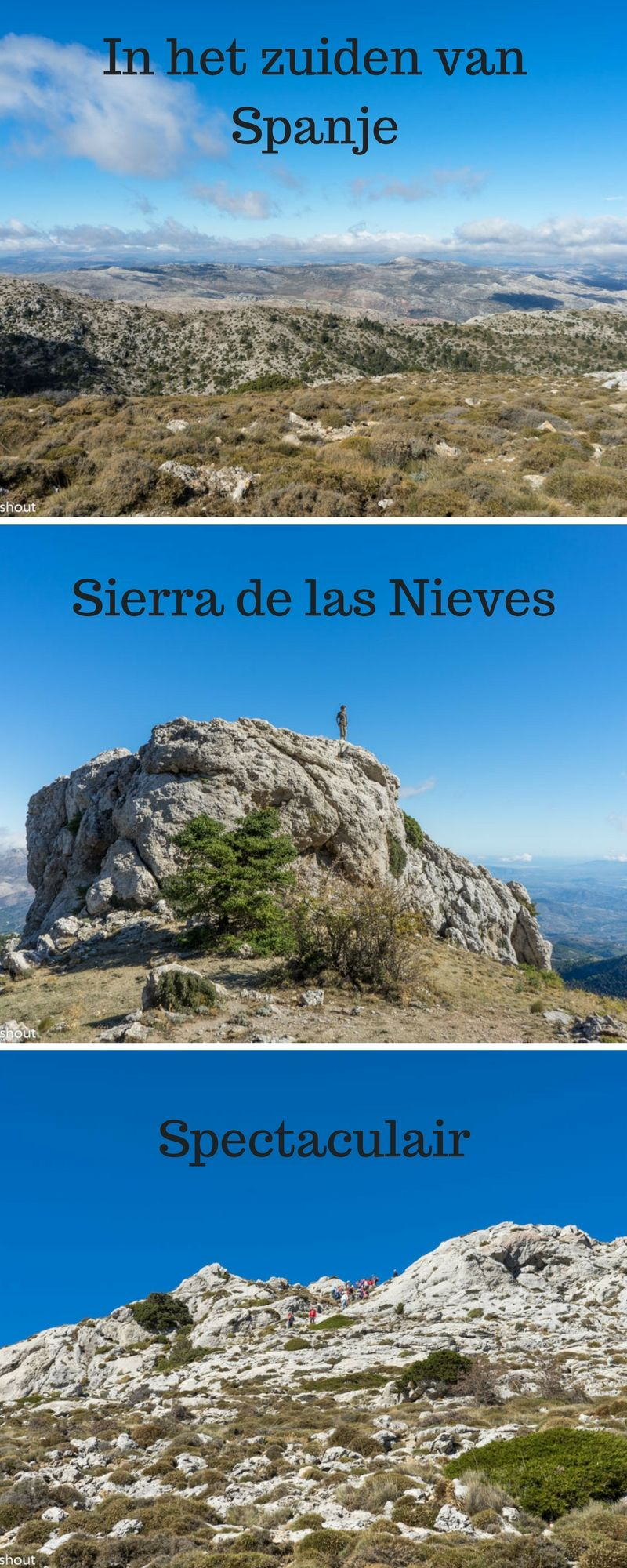 Sierra De Las Nieves Wandelen Malaga Spanje Spanje