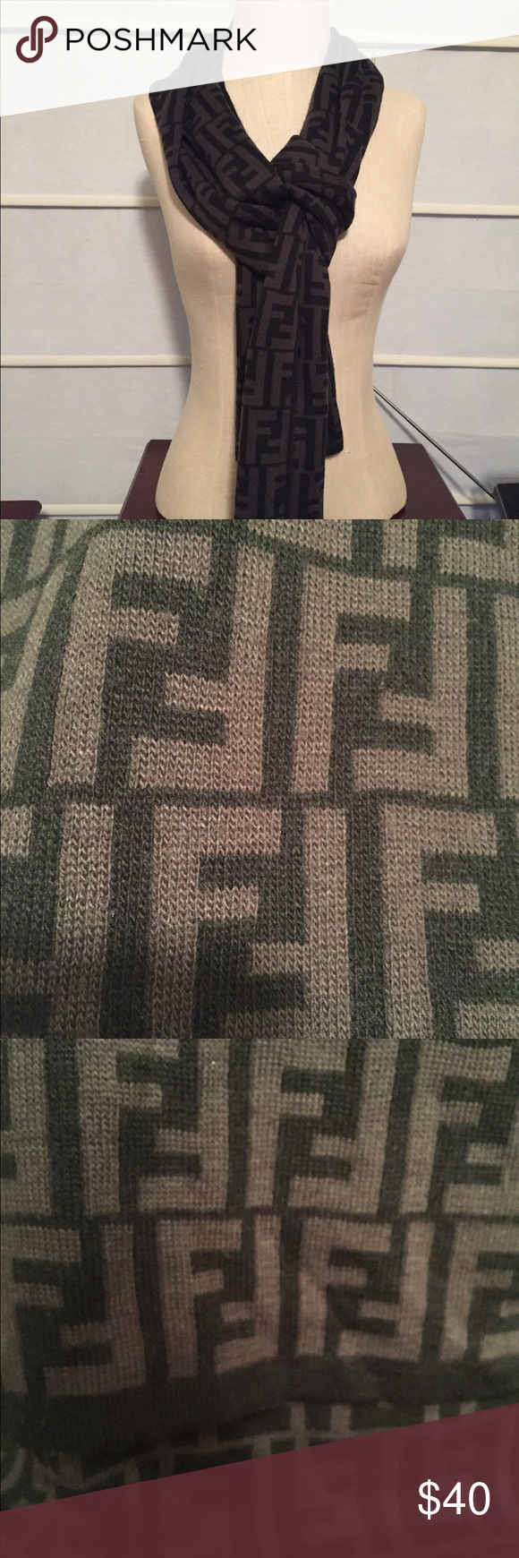 c35ef6ad Fendi Scarf This super warm scarf is in EUC. Gray and black. I ...