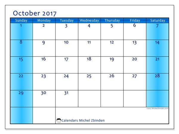 Calendar October  Ss  Free Printable Calendar Printable