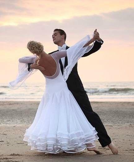 White wedding dance dress.