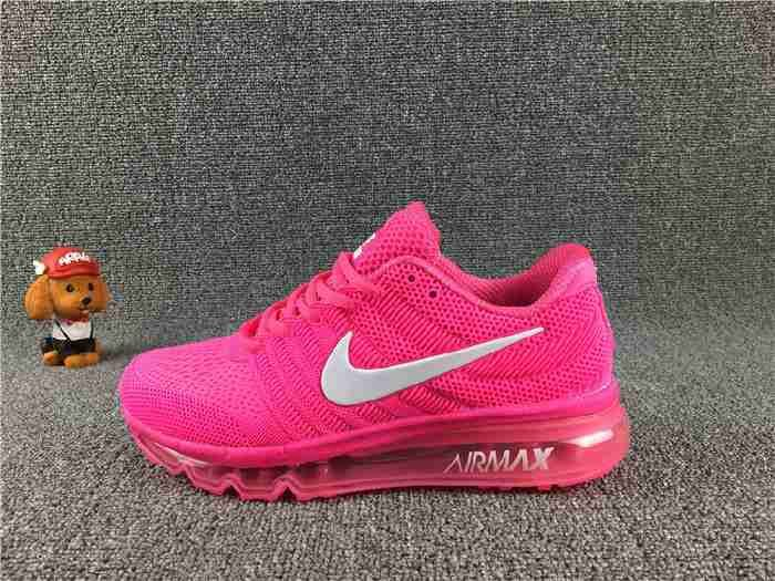 finest selection d27f5 ada1d Nike Air Max 2017 Peach Red White for Women