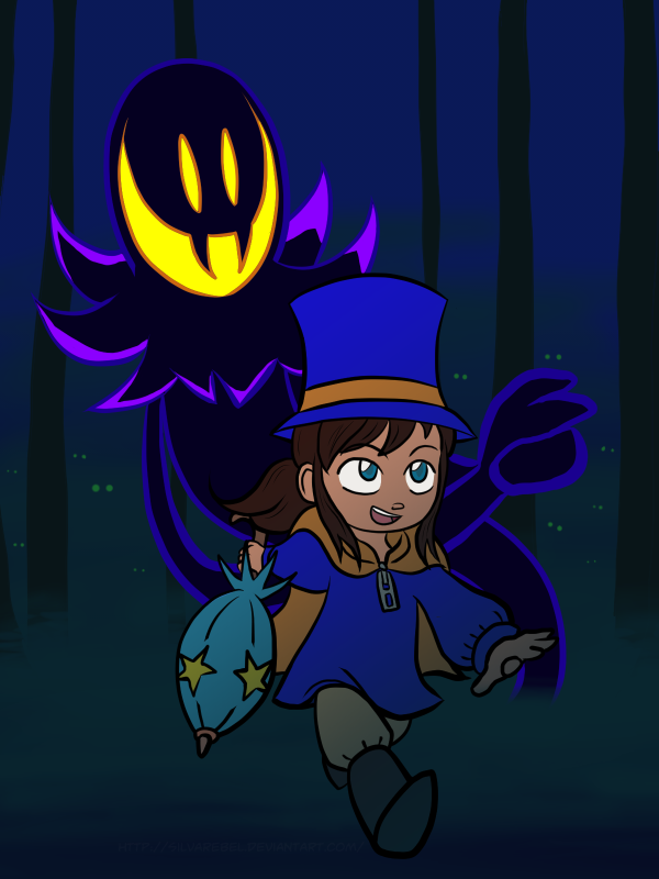 A Hat In Time Hat Kid And The Snatcher By Silvarebel A Hat In Time Hat In Time A Hat In Time Hat Kid