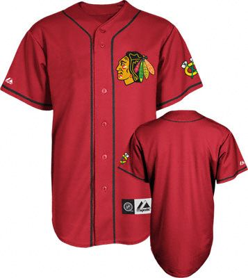check out 826e5 2107d Chicago Blackhawks Jersey: Scarlet NHL Replica Baseball ...