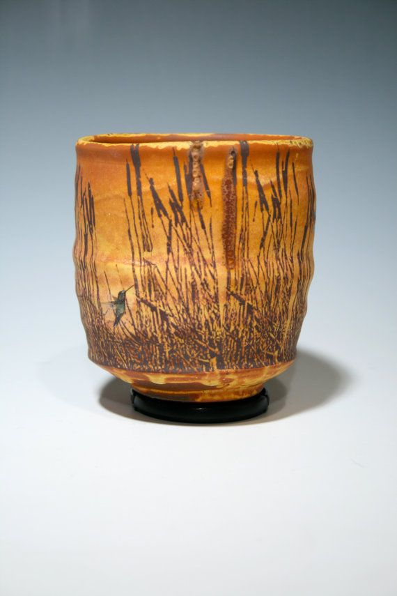 Justin Rothshank | Faceted teabowl with wheat markings.