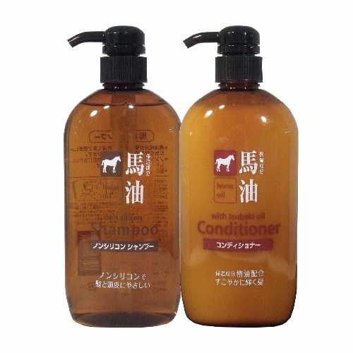 Kumano Horse Oil Shampoo Conditioner Set Japanese Hair Care