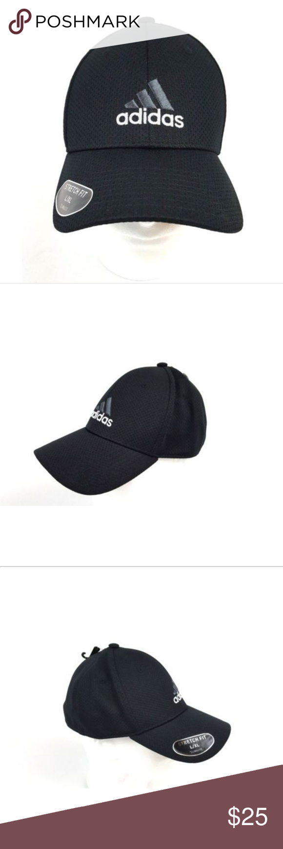 Adidas Stretch Fit Hat Cap L Xl Black Nwt Adidas Stretch Fit Hat Cap L Xl Black Nwt Men Or Women Condition New With Tags Fitted Hats Black Fashion Fashion
