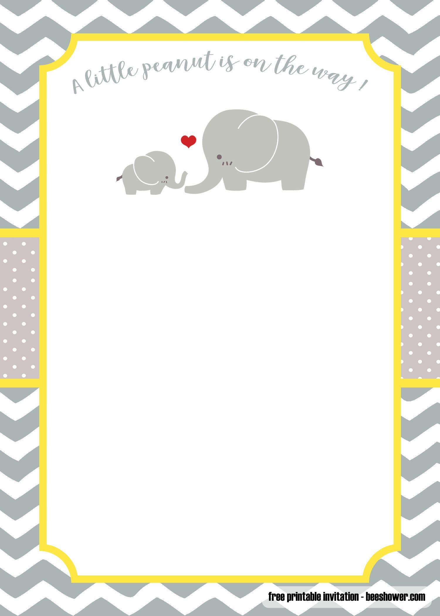 Free Printable Images Elephant Boy Baby Shower Template   PeepsBurgh