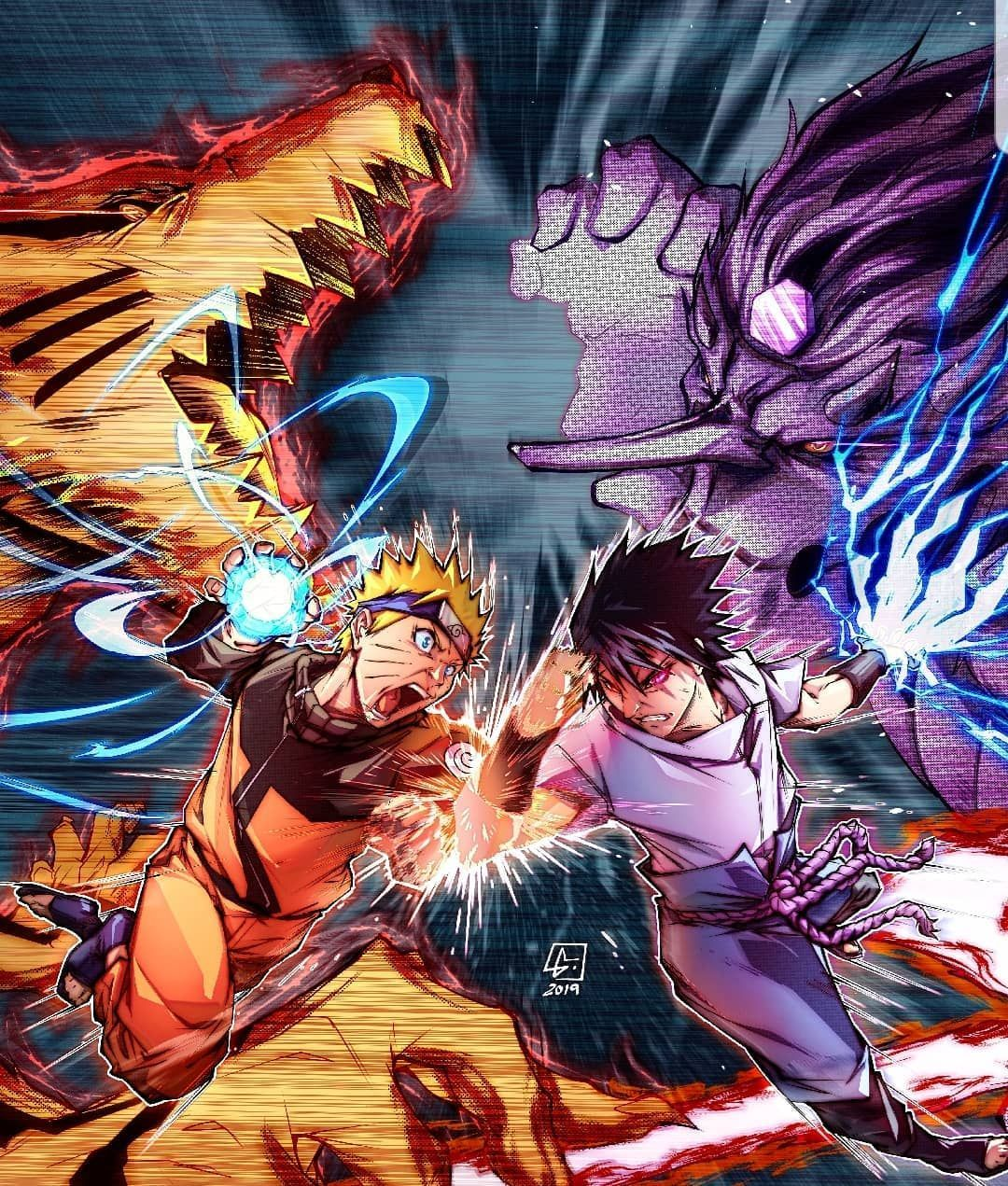 Naruto Vs Sasuke Com Imagens Naruto Shippuden Sasuke Naruto