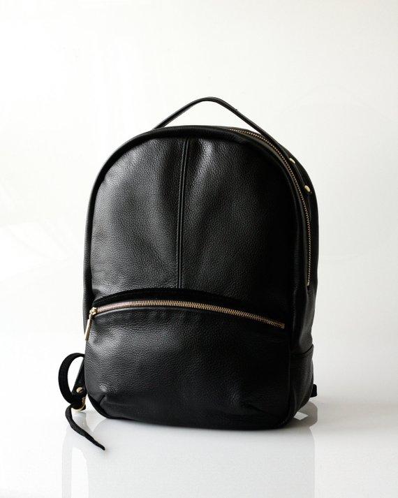 82b97aea06 Soft Pebbled Leather Backpack OPELLE Kanye leather backpack ...