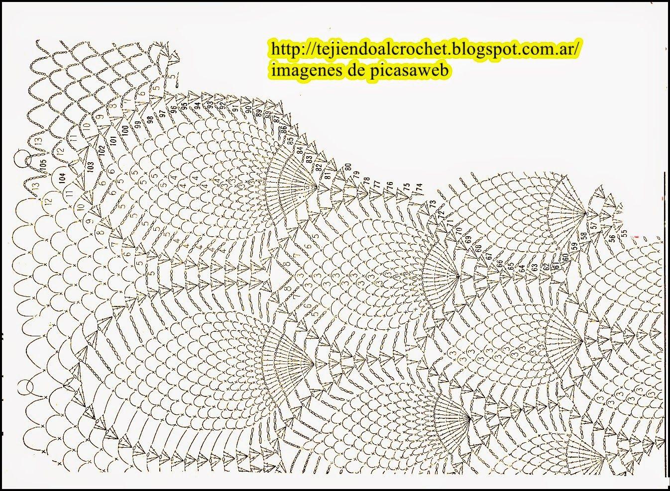 CROCHET - GANCHILLO - PATRONES - GRAFICOS: MANTEL TEJIDO A CROCHET ...