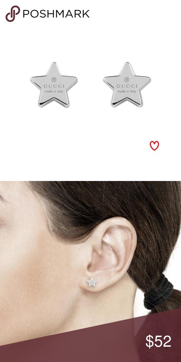 eeb812e82 GUCCI STAR EARRINGS Silver Gucci star earrings. Never worn . Gucci Jewelry  Earrings