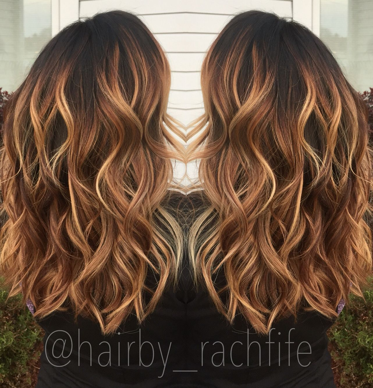 Warm Caramel Copper Balayage Stretched Root Fall Haircolor Hair By