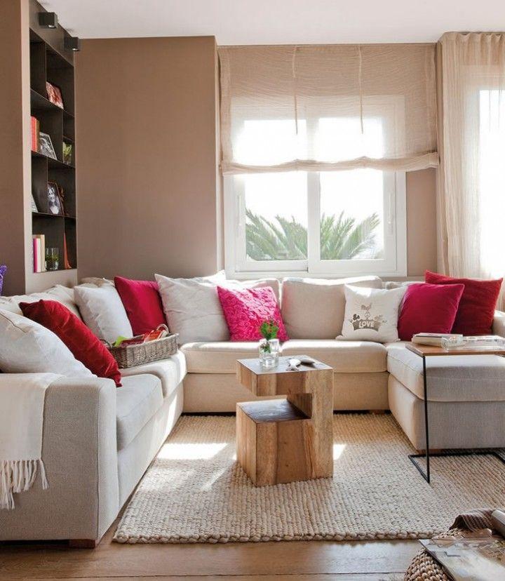 Salas acogedoras salas living rooms pinterest for Decoracion de casas acogedoras