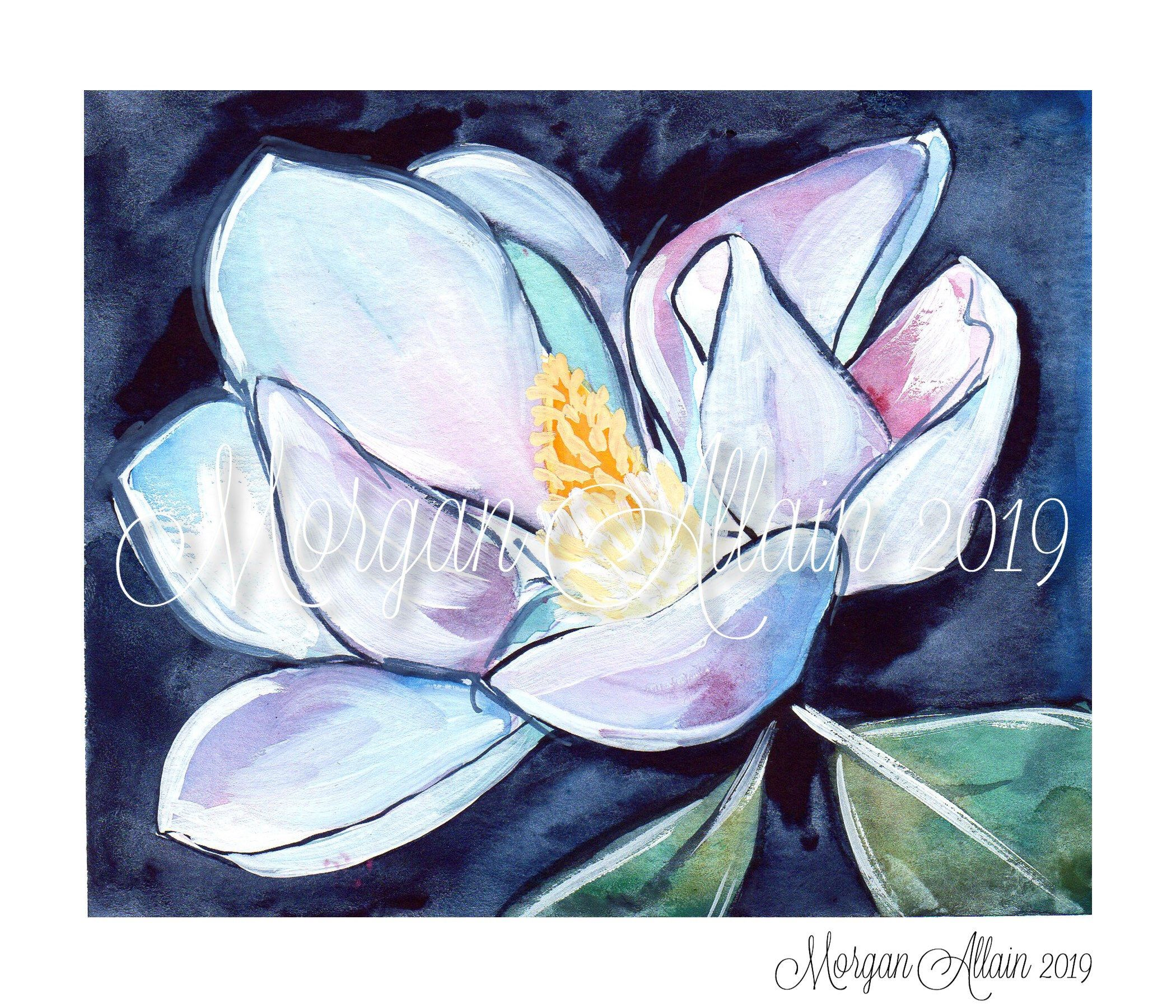 Louisiana Magnolia Bloom 8x10 Art Print Etsy 8x10 Art Prints Art Art Prints