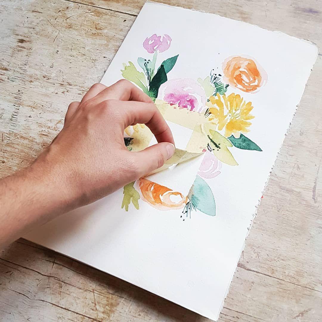 Defi Fleurs Aquarelle Sujet N 27 Cadre Today
