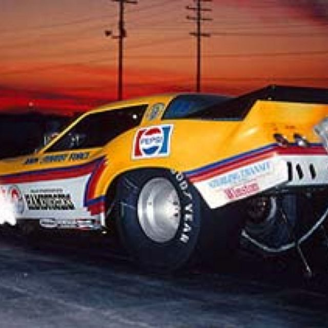 John Force In The Wendy's Funny Car