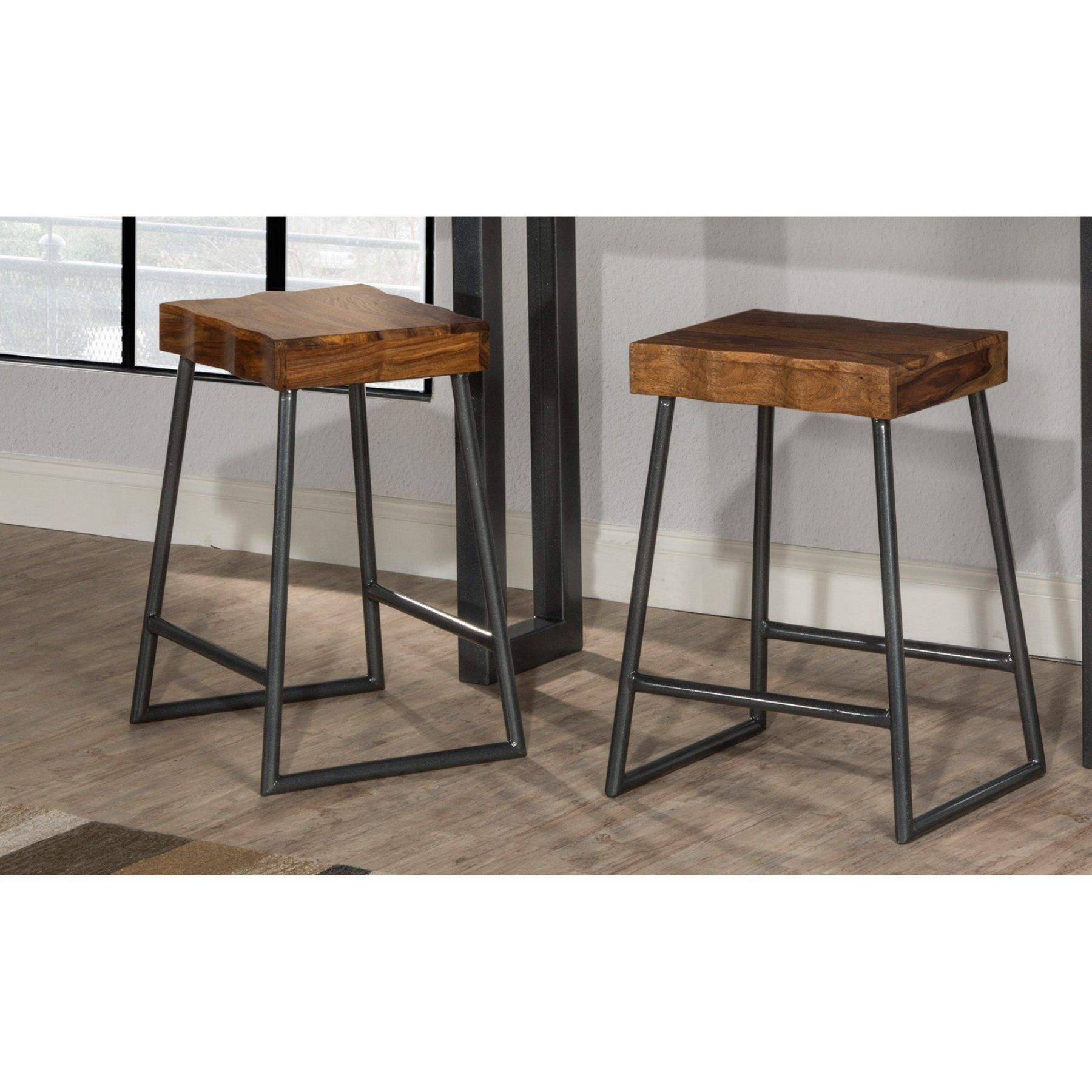 Bar height square kitchen table  Hillsdale Furniture Emerson Square Backless Counter Stool