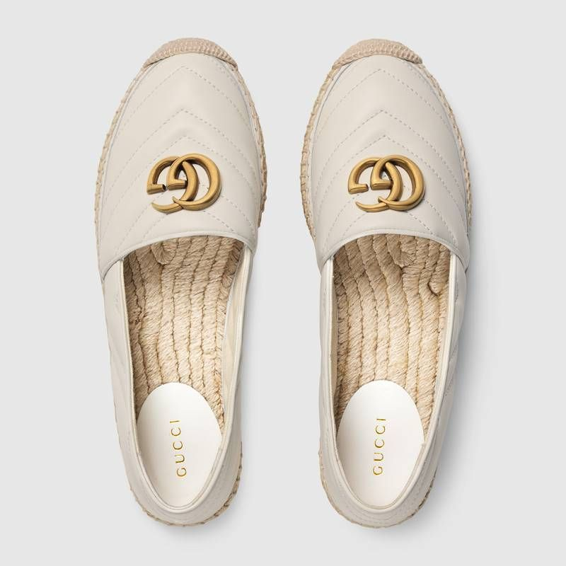 Shop the Leather espadrille with Double