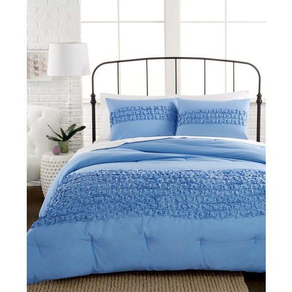 Origami Tucks Blue 2 Piece Twin Comforter Set Blue Duvet Cover Twin Comforter Sets California King Duvet Cover