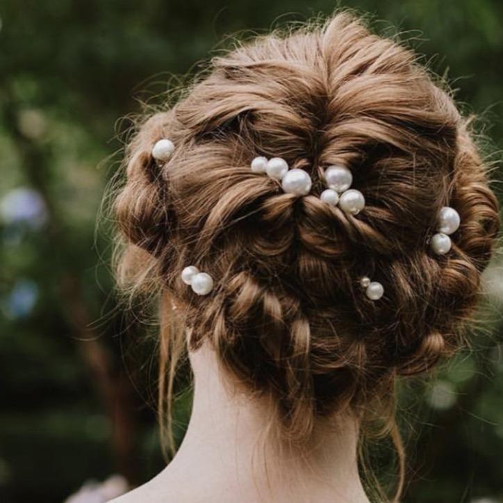 pearls hair pins hairpiece for wedding bride, bridal pearl ...