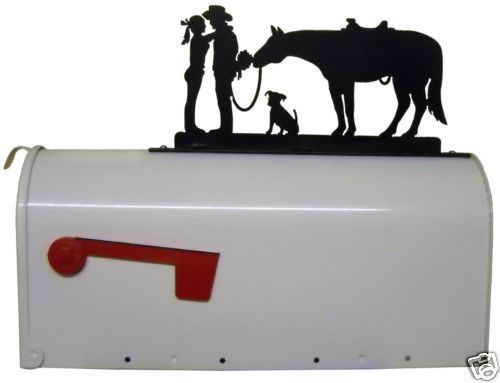 Details About Western Romance Mailbox Topper Metal Art Cowboy Cowgirl Horse Dog Ranch Decor Metal Tree Wall Art Ranch Decor Art Gallery Wall