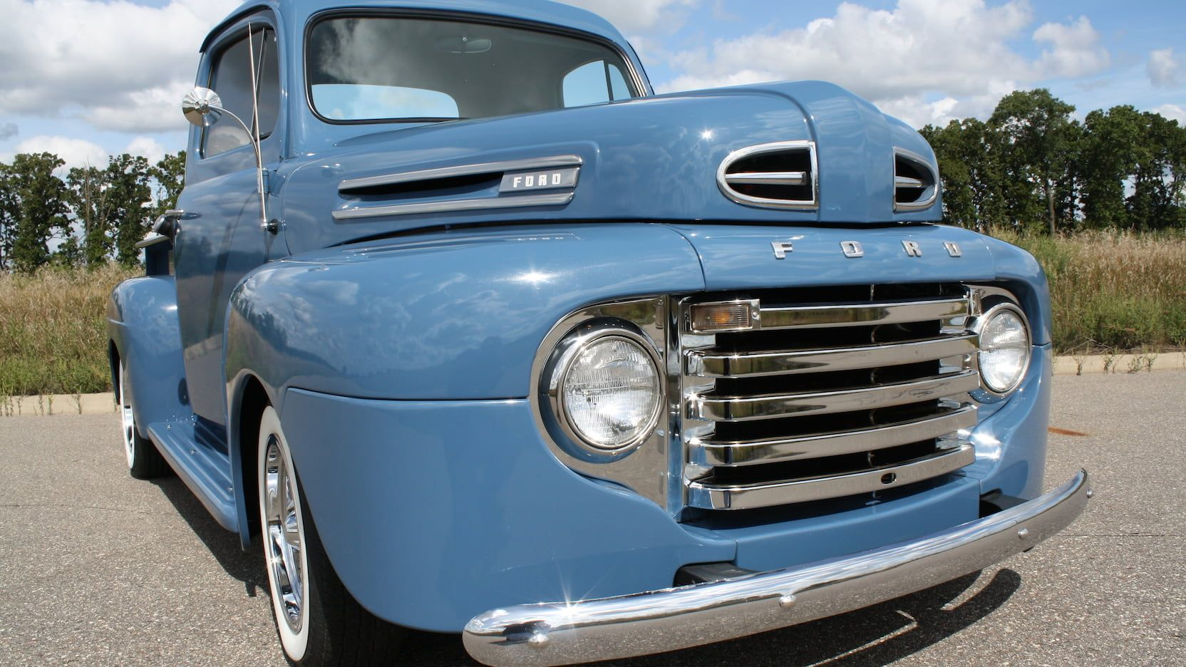 1949 Ford F1 Pickup Presented As Lot S100 At Schaumburg Il Truck Accessories Ford Ford Trucks Ford Pickup Trucks