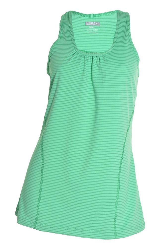 817b0b894d60ef Kirkland Yoga RacerBack Tank Top Long Tunic Womens Active Shirt Moisture  Wicking #KirklandSignature #ShirtsTops
