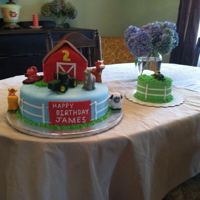 Farm Themed Birthday Cake Kiddos Pinterest Birthday Cakes