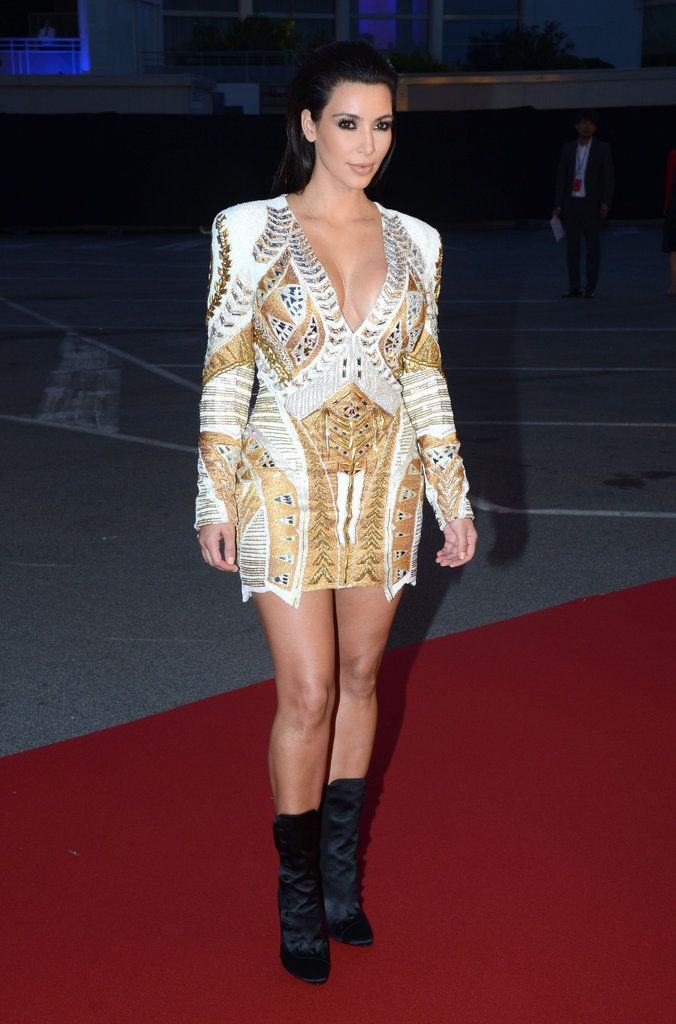Kim Kardasian at Kanye West Cannes Party