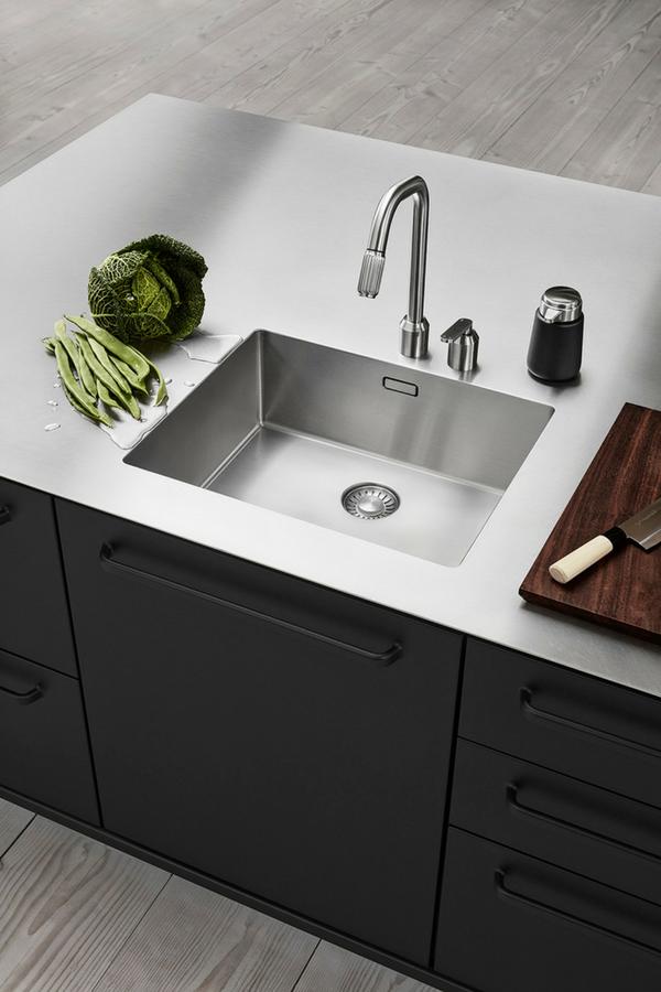 Küche, Küchenzeile, Spüle, Küchenspüle Und Arbeitsplatte Aus Einem Guss,  Küchenspüle, Edelstahl