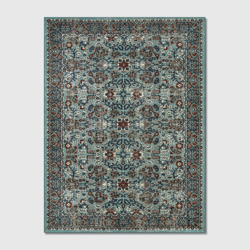 9 X12 Floral Tufted Area Rugs Blue Threshold In 2020 Tufted