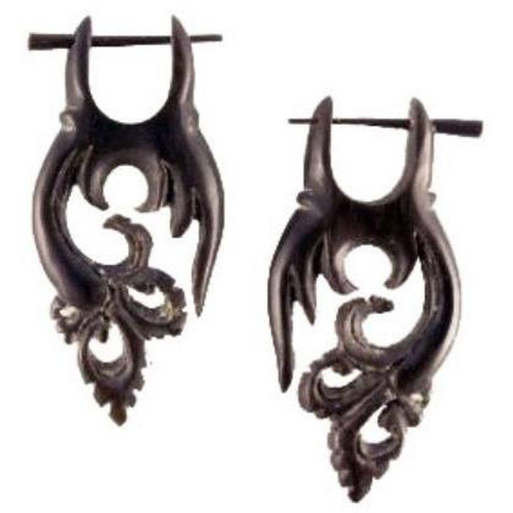 Fairy Flutter. horn earrings.