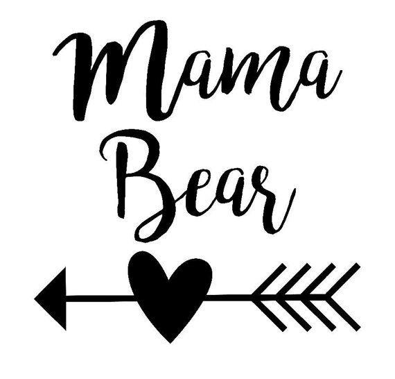 Mama Bear Decal Free Custom Color Mama Bear By Countrycottagegc Mama Bear Decal Bear Decal Silhouette Cameo Projects