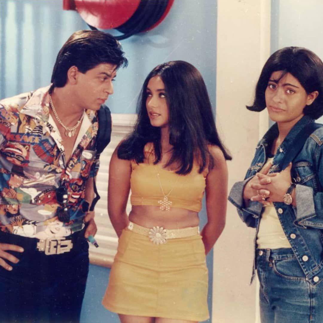Srk Rani And Kajol Kuch Kuch Hota Hai Kuch Kuch Hota Hai Bollywood Outfits Vintage Bollywood