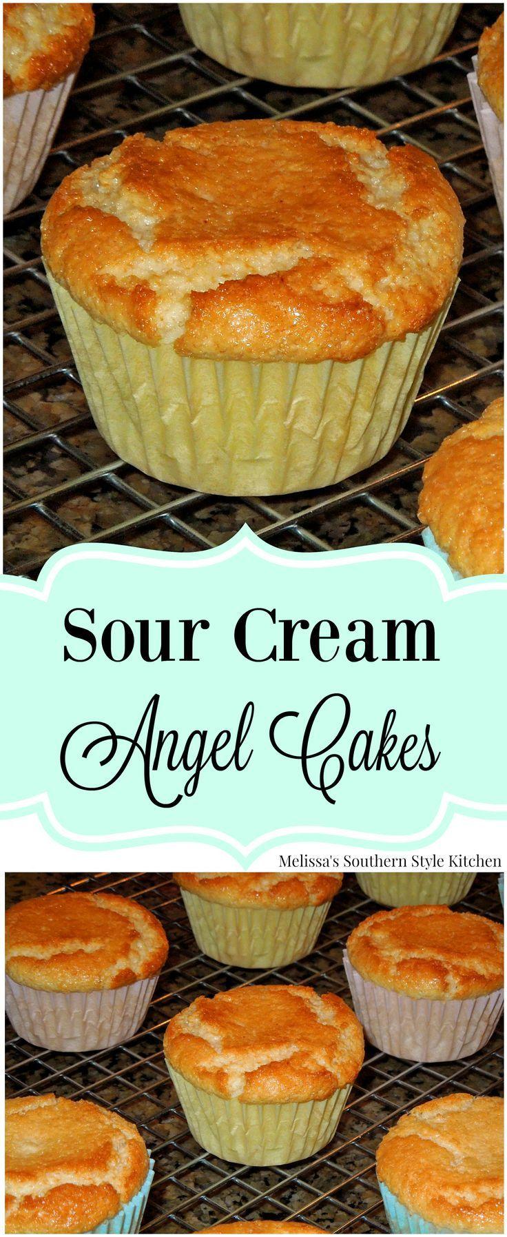 Sour Cream Angel Cakes #sourcream